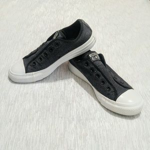 b85b6aca6faf0f Converse Shoes - Converse No Laces Slip Ons Black Thatched size 6